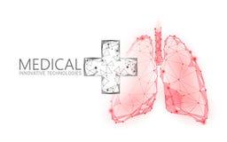 Концепция медицинского перекрестного доктора легких символа онлайн Приложение медицинской консультации Сеть аптеки диагноза здрав иллюстрация штока