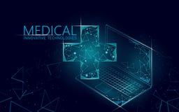 Концепция медицинского перекрестного доктора символа онлайн Приложение медицинской консультации Больница диагноза здравоохранения бесплатная иллюстрация