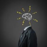 Концепция метода мозгового штурма Стоковая Фотография