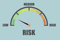 Концепция метра риска иллюстрация штока