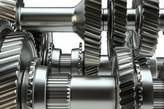 Концепция механизма шестерней Cog иллюстрация 3d Стоковая Фотография