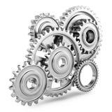 Концепция механизма шестерней Cog 3d Стоковое Фото