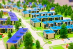 Концепция модели домов Стоковая Фотография