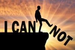 Концепция мотивации и положительной мысли иллюстрация штока