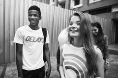 Концепция молодежной культуры деятельности при единения приятельства людей Стоковое Изображение