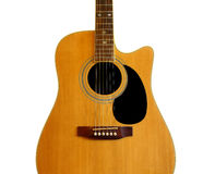 Концепция музыки акустической гитары Стоковое фото RF