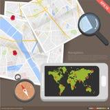 Концепция навигации применения Infographics передвижная иллюстрация вектора