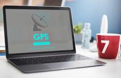 Концепция навигации GPS передачи данных Boardcast Стоковая Фотография