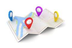 Концепция навигации GPS спутниковая Стоковые Фото