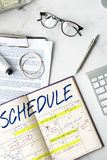 Концепция назначения календаря деятельности при план-графика стоковое изображение rf