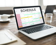 Концепция назначения календаря деятельности при план-графика стоковые изображения