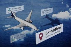 Концепция назначения перемещения путешествием положения Стоковые Изображения RF