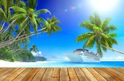 Концепция назначения перемещения рая пляжа лета стоковые изображения rf