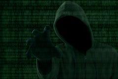 Концепция 1 нападения хакера Стоковое фото RF
