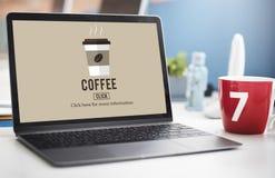 Концепция напитка значка кофейной чашки выпивая Стоковое Изображение RF
