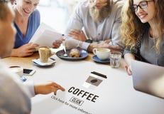 Концепция напитка значка кофейной чашки выпивая Стоковая Фотография