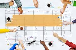 Концепция напоминания встречи календаря повестки дня назначения стоковое изображение rf