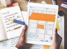 Концепция напоминания встречи календаря повестки дня назначения стоковые фото