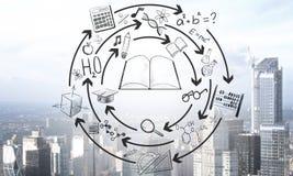Концепция науки и алгоритма стоковое изображение