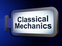 Концепция науки: Классические механики на предпосылке афиши иллюстрация вектора