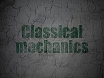 Концепция науки: Классические механики на предпосылке стены grunge иллюстрация вектора