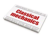 Концепция науки: механики газетного заголовка классические иллюстрация вектора