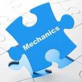 Концепция науки: Механики на предпосылке головоломки бесплатная иллюстрация