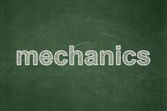 Концепция науки: Механики на предпосылке доски иллюстрация вектора