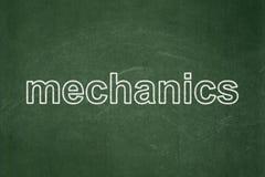 Концепция науки: Механики на предпосылке доски иллюстрация штока
