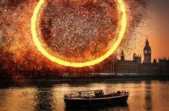 Концепция на парламенте Великобритании, Вестминстер взрыва, Лондон, В стоковое изображение rf