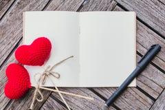Концепция дневника памяти влюбленности, Стоковые Фотографии RF