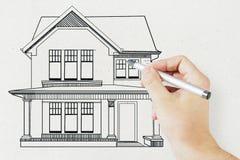 Концепция недвижимости и ренты Стоковая Фотография RF