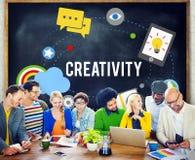 Концепция нововведения воодушевленности воображения творческих способностей художническая Стоковое Изображение RF
