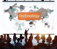 Концепция нововведения развития цифров технологии Стоковое Изображение RF
