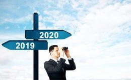 Концепция Нового Года и будущих стоковая фотография