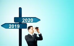 Концепция Нового Года и будущих стоковое изображение rf