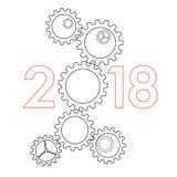 Концепция 2017 Нового Года - Стоковые Изображения