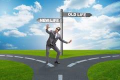 Концепция новой и старой жизни иллюстрация вектора