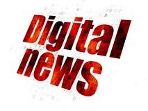 Концепция новостей: Новости цифров на предпосылке цифров Стоковые Фото