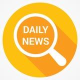 Концепция новостей: Увеличивая оптически стекло с новостями слов ежедневно иллюстрация штока