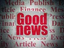 Концепция новостей: Хорошие новости на предпосылке бумаги цифровых данных