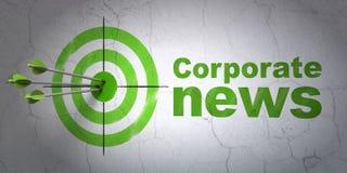 Концепция новостей: цель и корпоративные новости на предпосылке стены