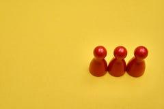 Концепция номера Смогите быть использовано для решения в представлении перечислить 3 до 3 Стоковые Фото