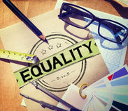 Концепция нравственности равного дискриминации баланса равности Стоковые Изображения