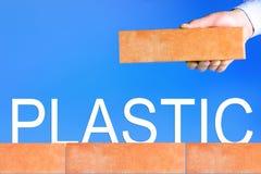Концепция нул отходов Пластмасса запрета иллюстрация штока