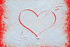 Концепция дня валентинок с сердцами Стоковое Изображение