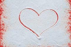 Концепция дня валентинок с сердцем Стоковая Фотография RF