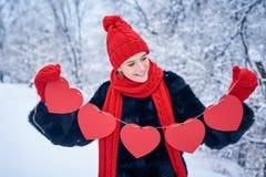 Концепция дня влюбленности и валентинок Стоковое фото RF