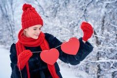 Концепция дня влюбленности и валентинок Стоковое Изображение RF