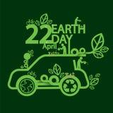 Концепция дня земли экологическая управляя Стоковое Фото